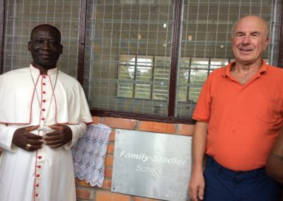 Erbaute Schule in Afrika